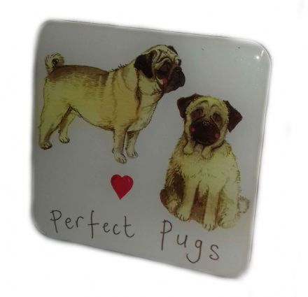 Perfect Pugs Fridge Magnet